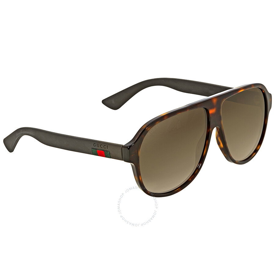 80ac98317ea Gucci Dark Havana Aviator Sunglasses - Gucci - Sunglasses - Jomashop