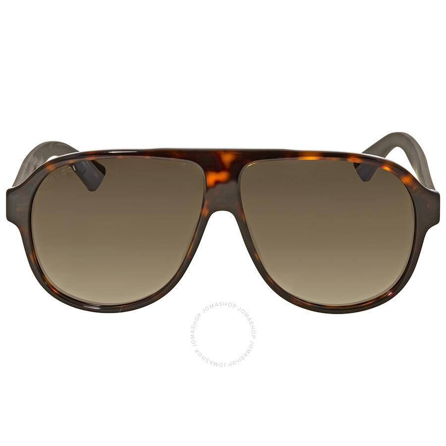 9bfd32e596 Gucci Dark Havana Aviator Sunglasses Gucci Dark Havana Aviator Sunglasses  ...
