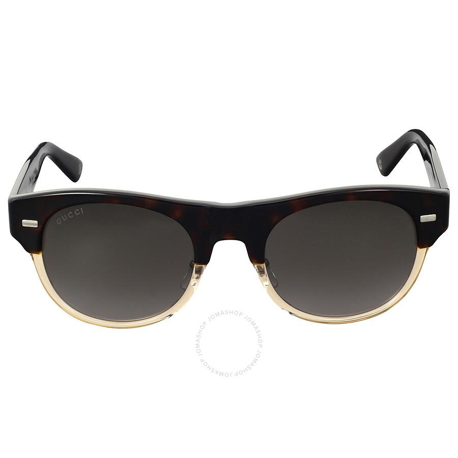 b62033488c07d Gucci Dark Havana Honey Sunglasses - Gucci - Sunglasses - Jomashop