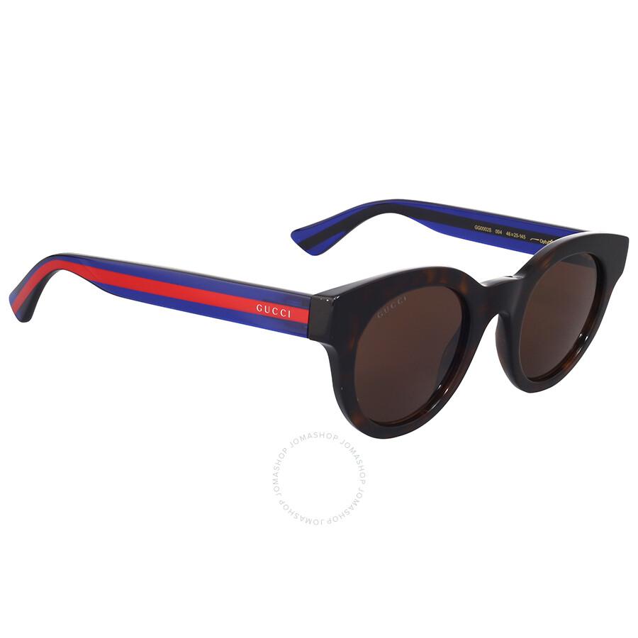 ca4e9d91 Gucci Dark Havana Round Sunglasses
