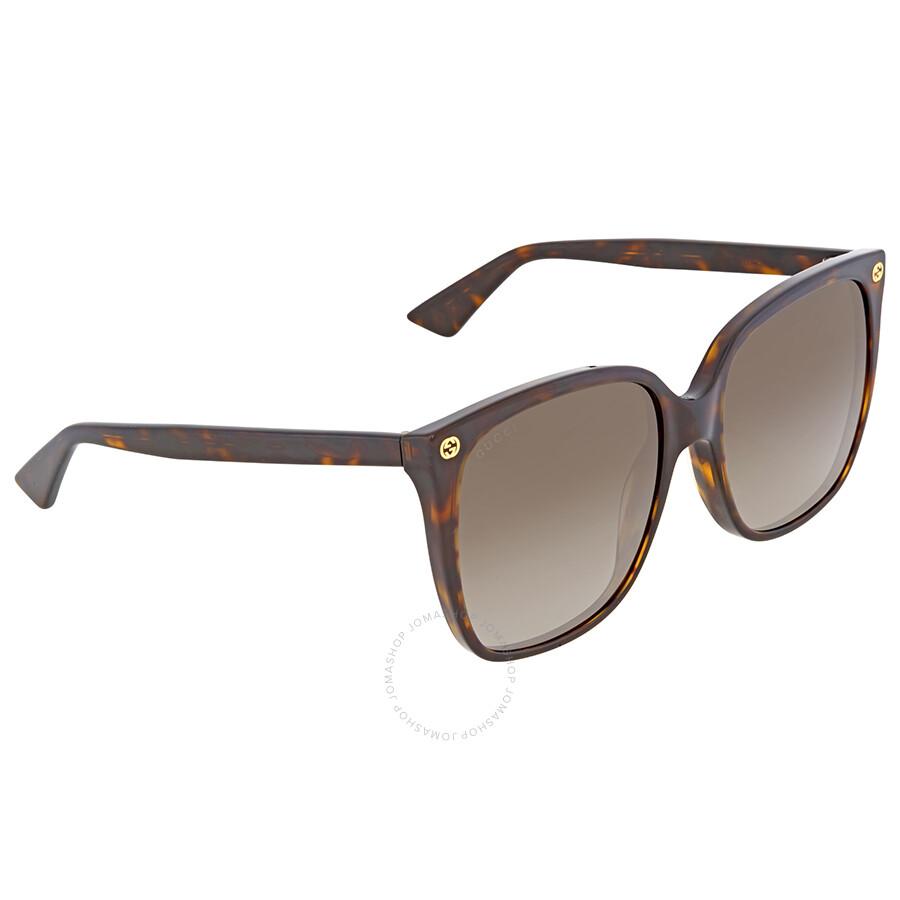 d6c3fea2e94 Gucci Dark Havana Square Sunglasses - Gucci - Sunglasses - Jomashop