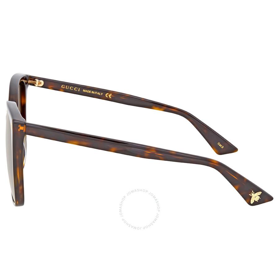 1ee9dbfc6a Gucci Dark Havana Square Sunglasses - Gucci - Sunglasses - Jomashop
