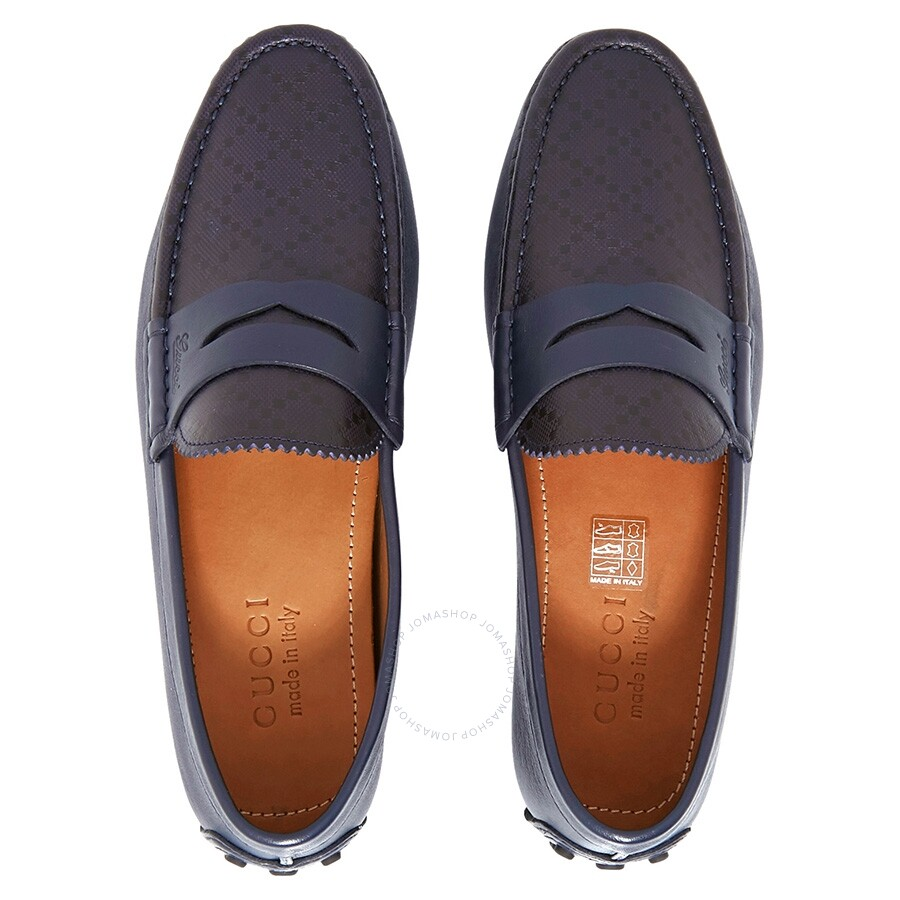 574a3b6fd1d Gucci Diamante Leather Driver- Blue  5.5 - Shoes - Fashion   Apparel ...