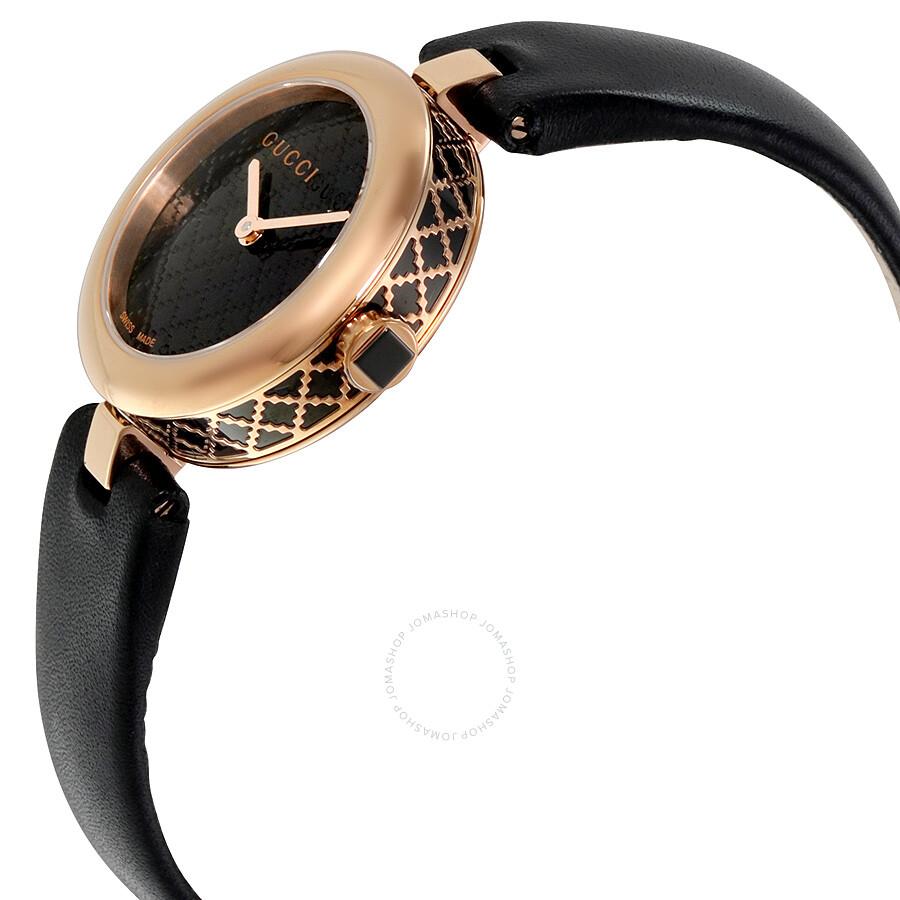 7bcce67996f ... Gucci Diamantissima Black Diamante Dial Ladies Watch YA141501 ...