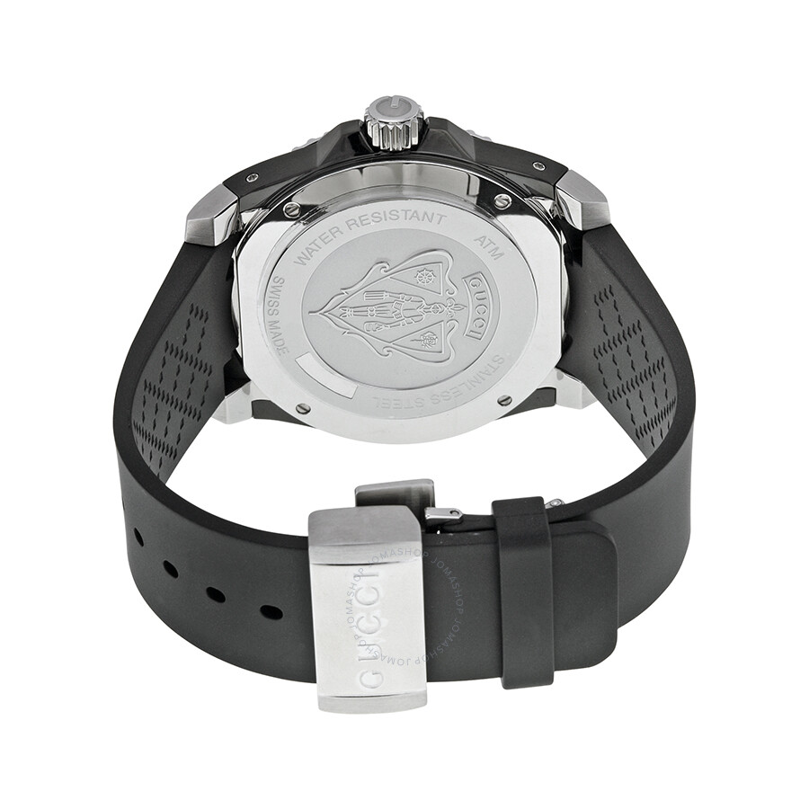 e2c7c5808fd Gucci Dive Black Dial Black Rubber Men s Watch YA136204 - Dive ...