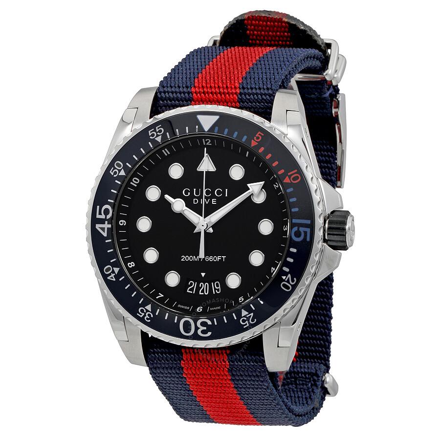 cfae42ecde2 Gucci Dive Black Dial Men s Watch YA136210 - Dive - Gucci - Watches ...