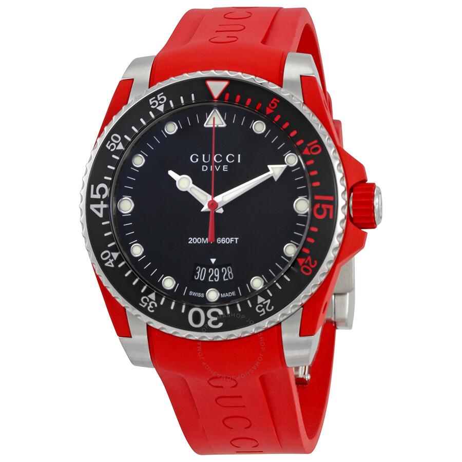 13b49aaa4cb Gucci Dive Black Dial Men s Watch YA136309 - Dive - Gucci - Watches ...
