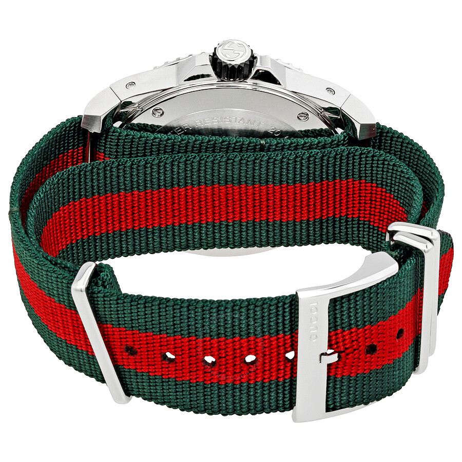745f48fc7d4 Gucci Dive Black Dial Green and Red Nylon Men s Watch YA136209 ...
