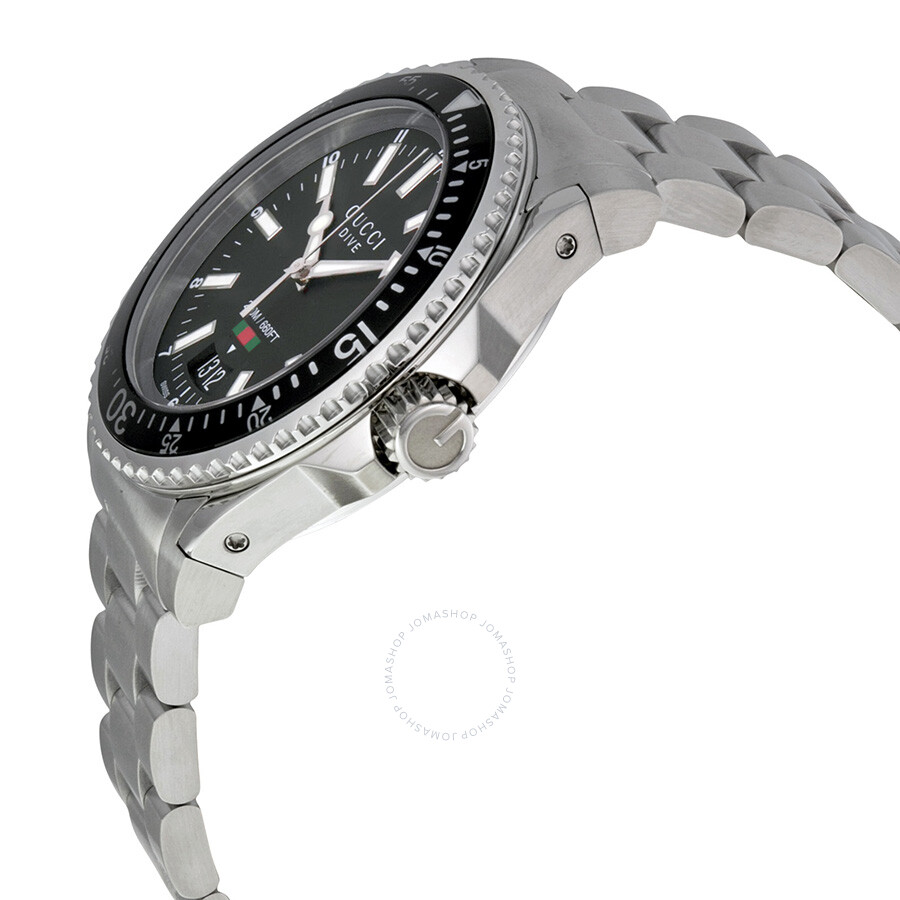 09abe284793 Gucci Dive Black Dial Stainless Steel Men s Watch YA136301 - Special ...