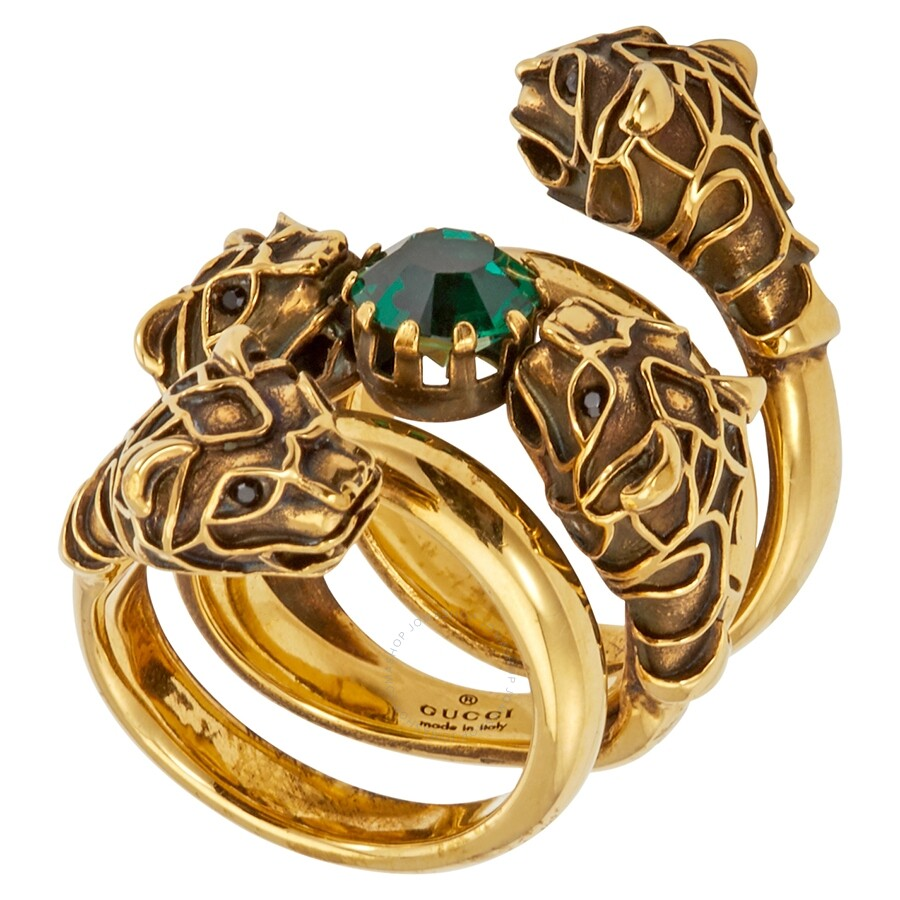 1261a811a Gucci Double Wrap Ring with Tiger Heads - Gucci - Ladies Jewelry ...