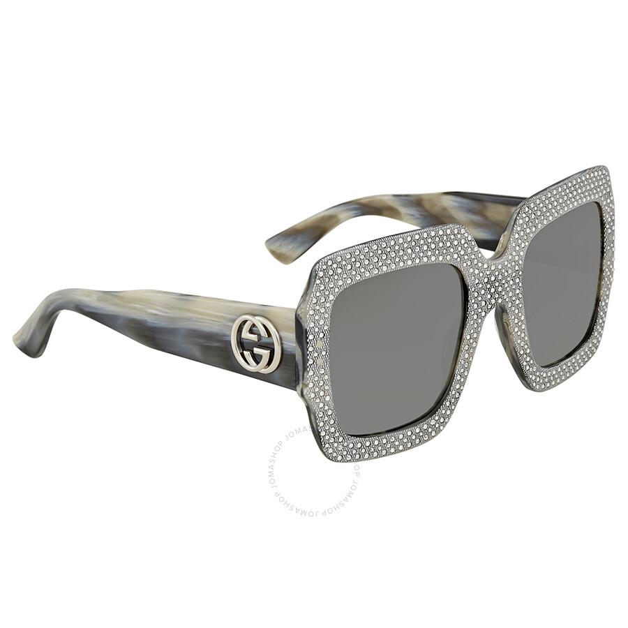 8192ac6efcf Gucci Fashion Inspired Grey Square Ladies Sunglasses GG0048S-001 54 ...