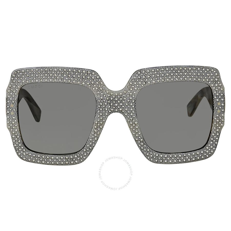 2104c7d52db ... Gucci Fashion Inspired Grey Square Ladies Sunglasses GG0048S-001 54 ...