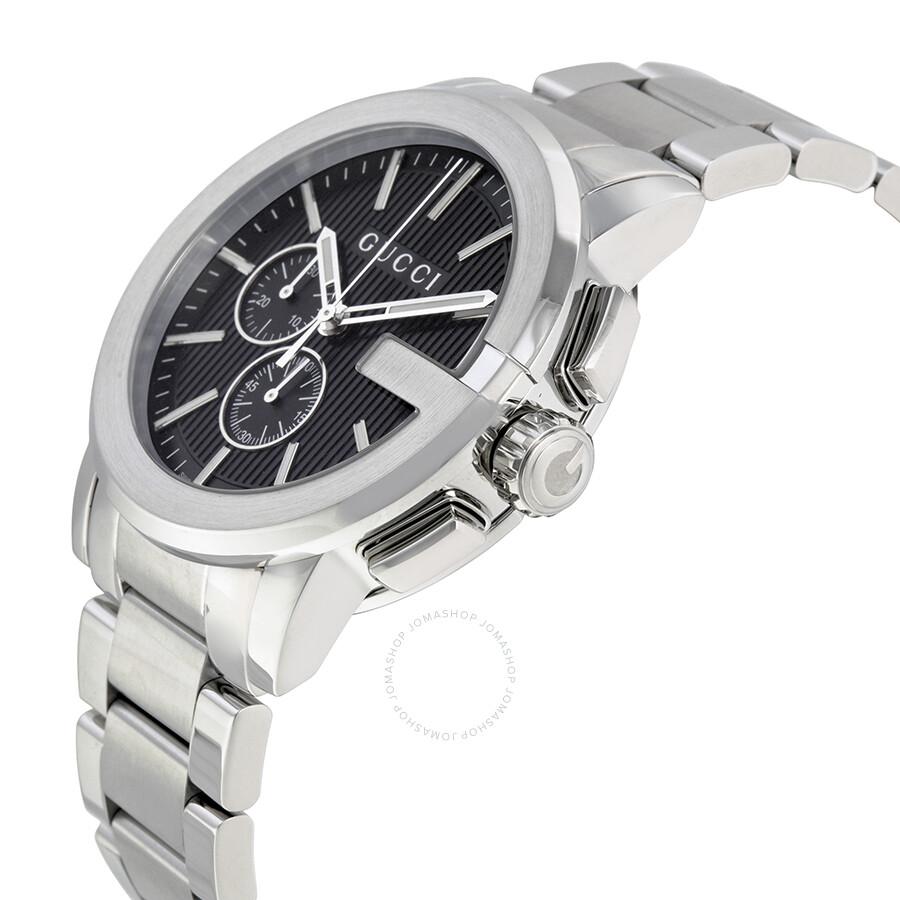 0a0de8ea2c7 Gucci G-Chrono Black Dial Stainless Steel Men s Watch YA101204 - G ...