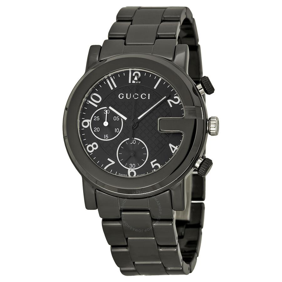 acaa198d Gucci G-Chrono Chronograph Black Dial Men's Watch YA101352