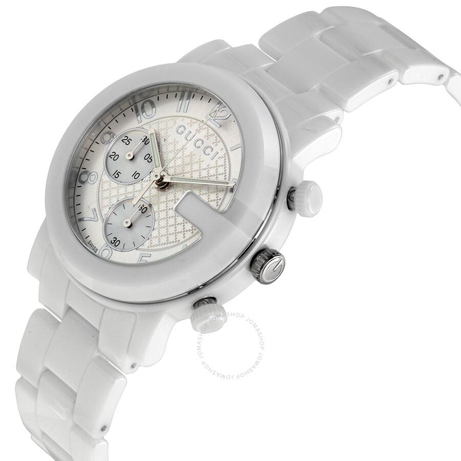 64cd1900071 ... Gucci G-Chrono Chronograph White Dial White Ceramic Men s Watch  YA101353 ...