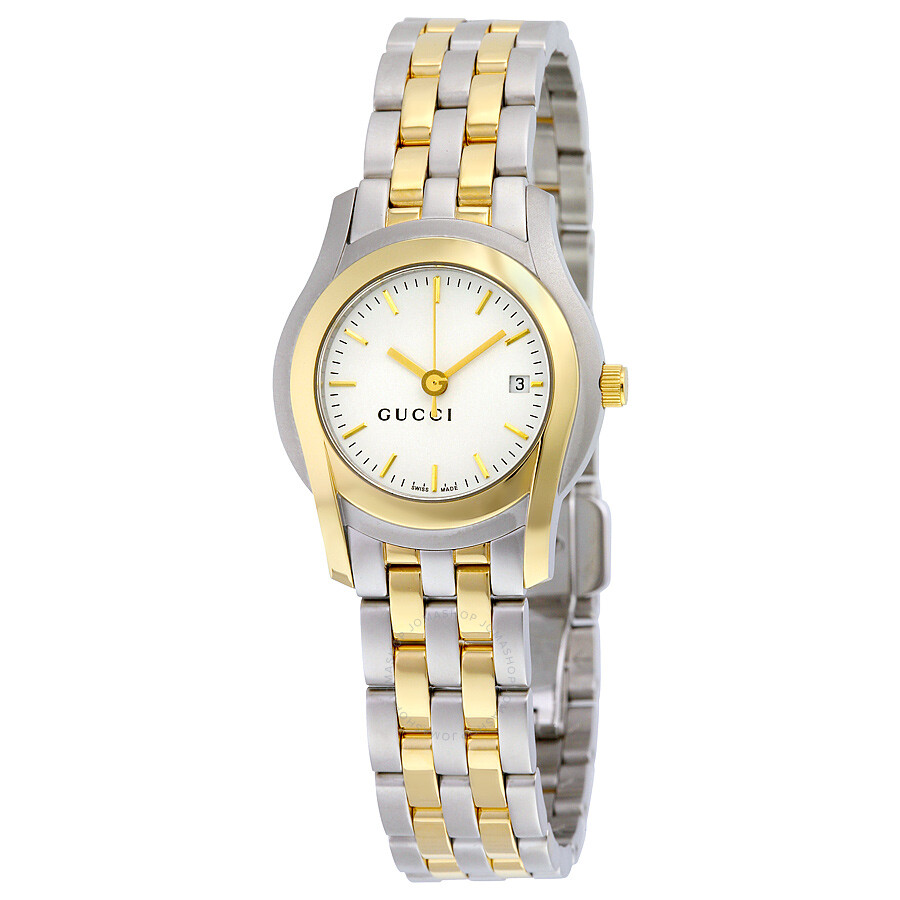 a9a3f9e6c12 Gucci G Class White Dial Two-tone Ladies Watch YA055520 - G-Timeless ...