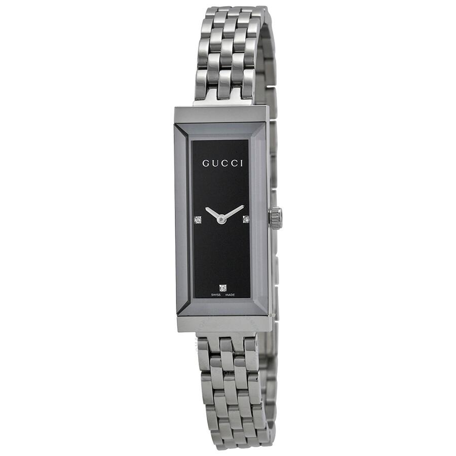 ac018b0bf5633 Gucci G-Frame Diamond Dial Bracelet Watch YA127504 - G-Frame - Gucci ...