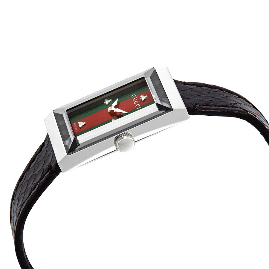 63a291a9b36 ... Gucci G-Frame Green-Red Mother of Pearl Dial Ladies Leather Watch  YA147403 ...