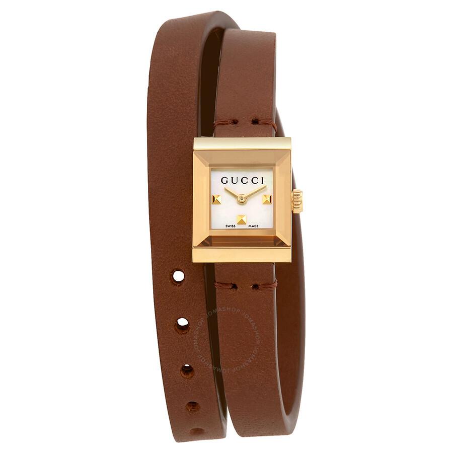 4218f657b6b Gucci G-Frame Mother of Pearl Dial Ladies Watch YA128521 - G-Frame ...