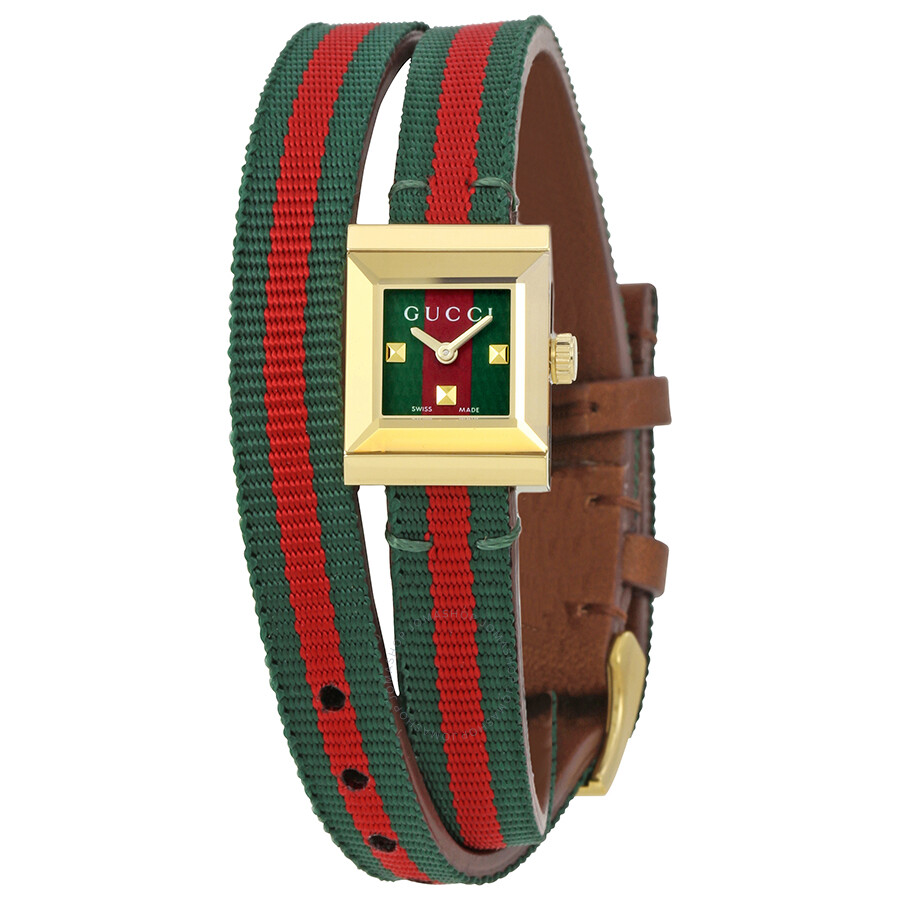 ed254763f7f Gucci G-Frame Red and Green Dial Ladies Watch YA128527 - G-Frame ...