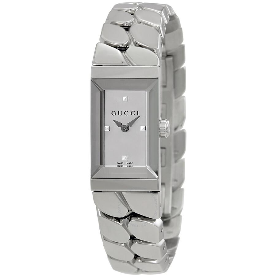 f86b0a45292 Gucci G-Frame Silver Dial Ladies Watch YA147501 - G-Frame - Gucci ...