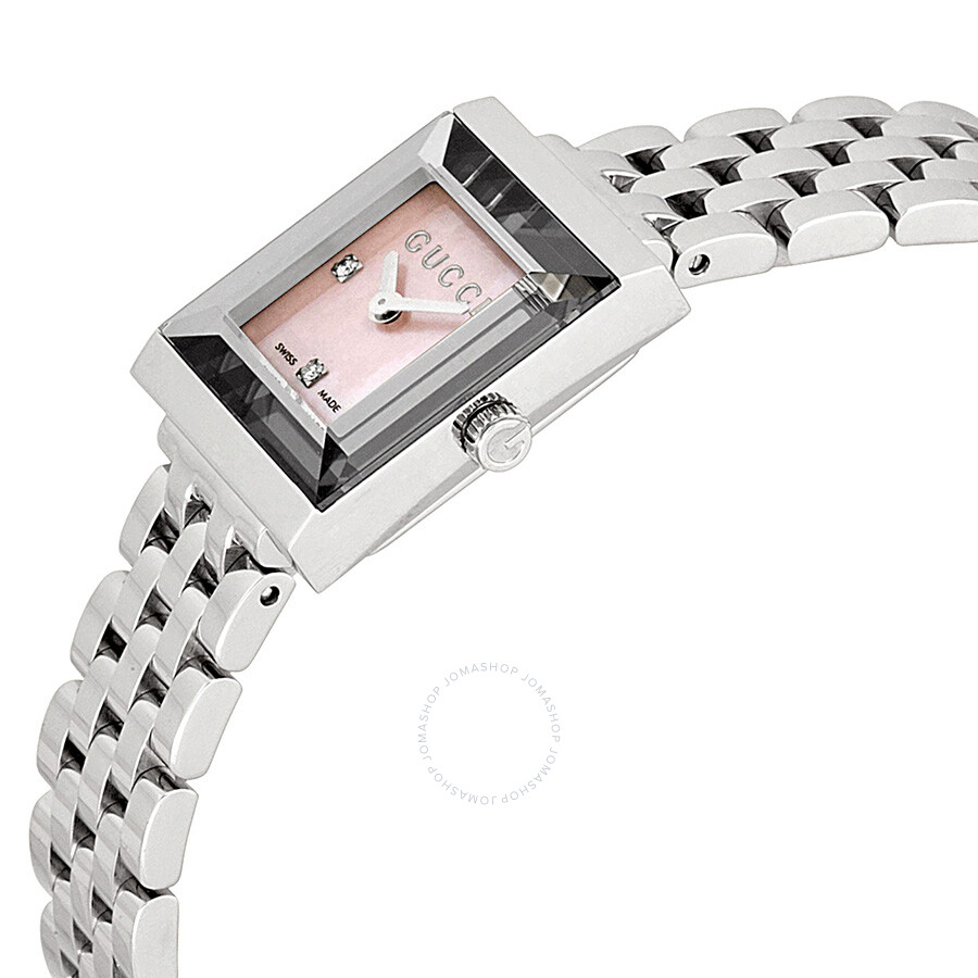 e41dc2421ca ... Gucci G Frame Timeless Mother of Pearl Dial Stainless Steel Ladies  Watch YA128401 ...