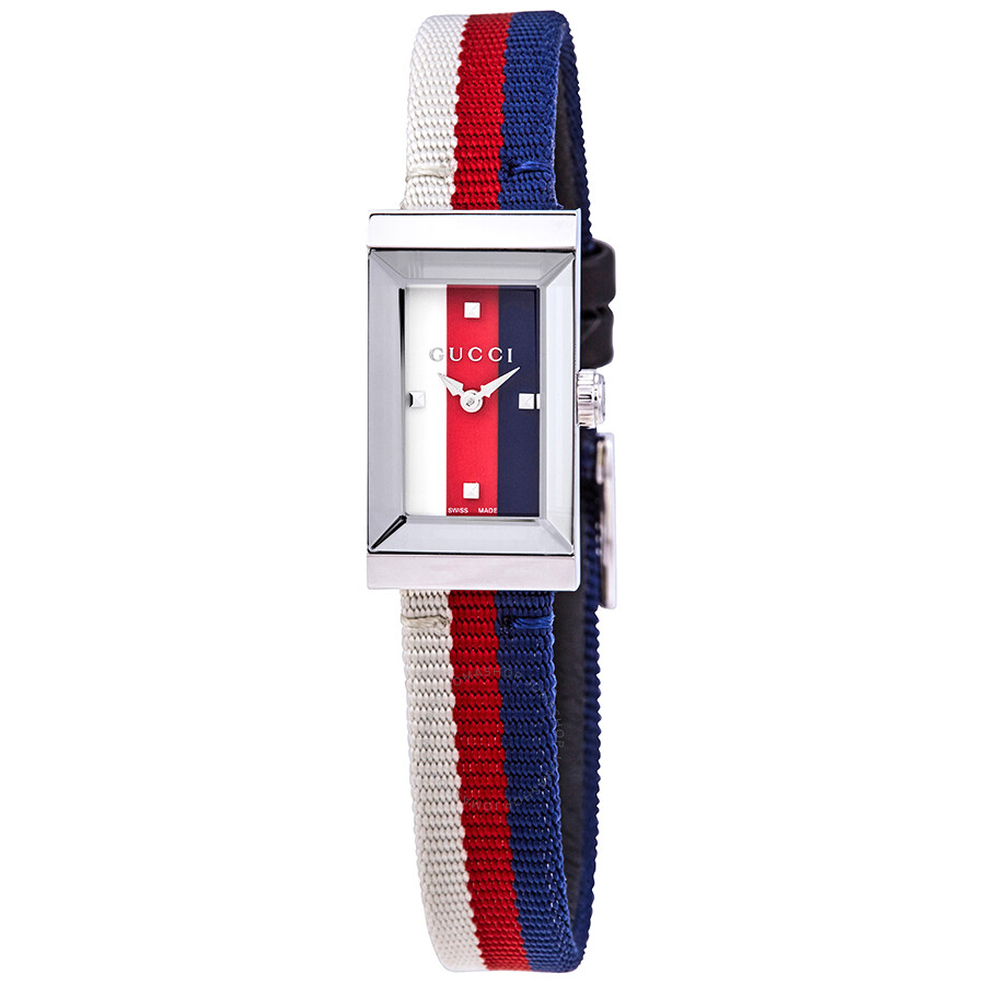 5f1774d14c9 Gucci G-Frame White Red Blue Dial Ladies Watch YA147508 - G-Frame ...