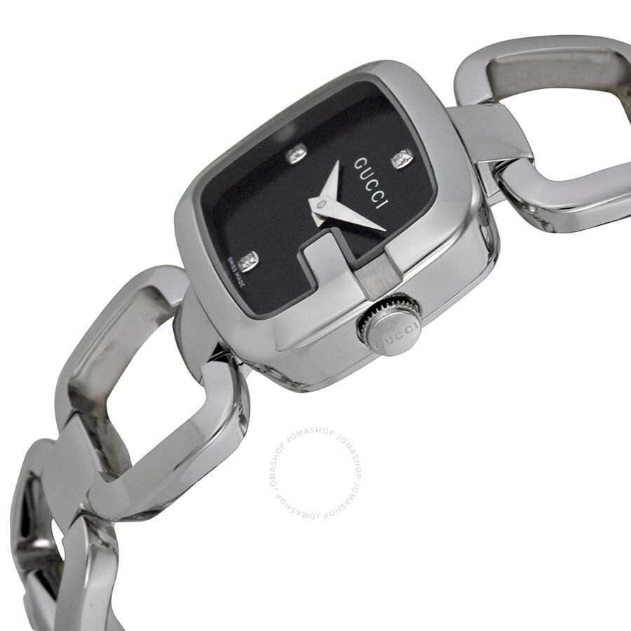 8bc02cd6 Gucci G-Gucci Black Diamond Dial Ladies Watch YA125509