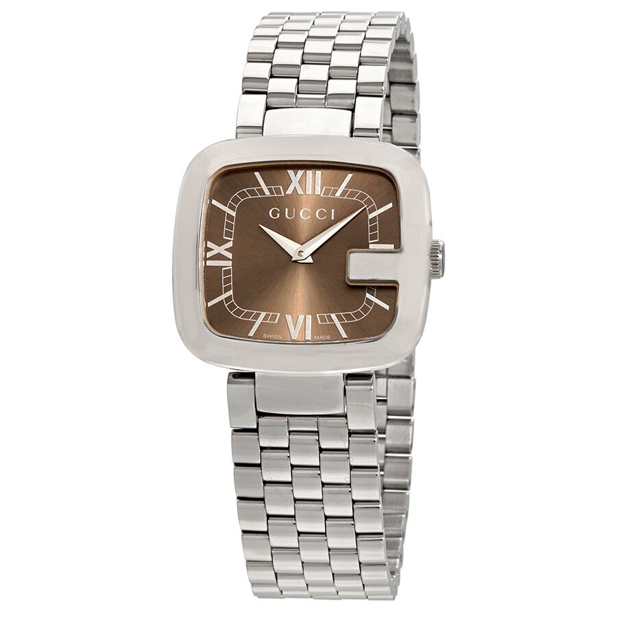 5bbe5efaed8 Gucci G-Gucci Brown Dial Ladies Watch YA125413 - G-Gucci - Gucci ...