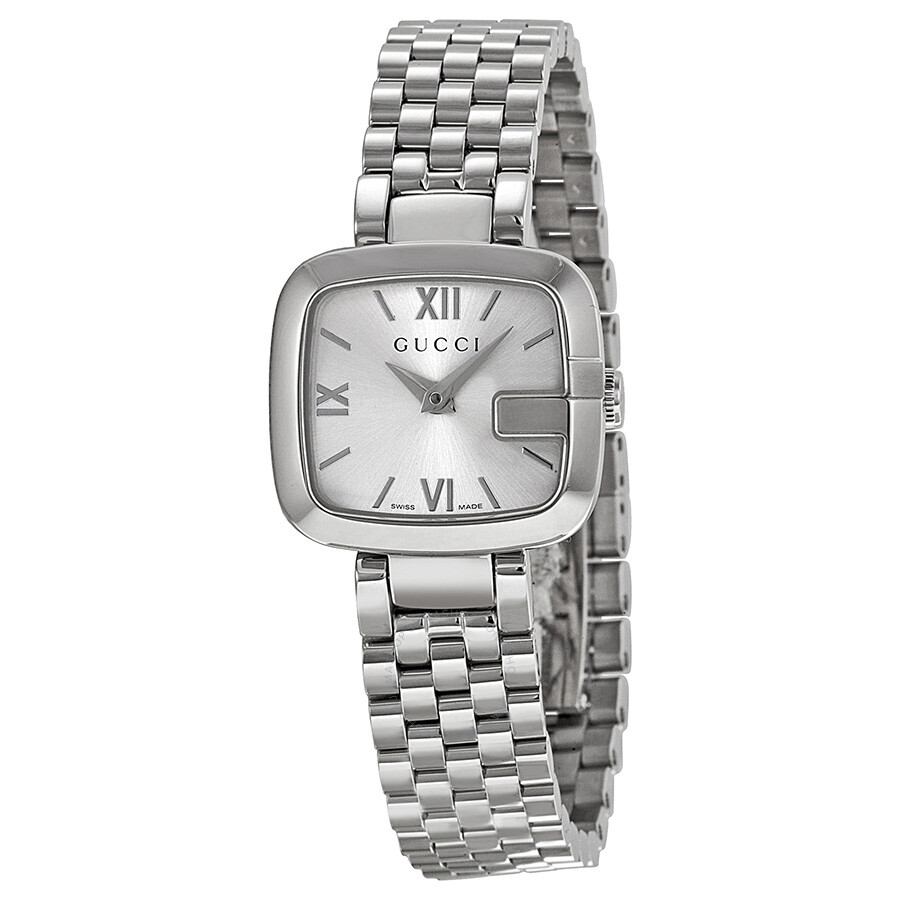 7b771e6b1a6 Gucci G-Gucci Silver Dial Stainless Steel Ladies Watch YA125517 - G ...