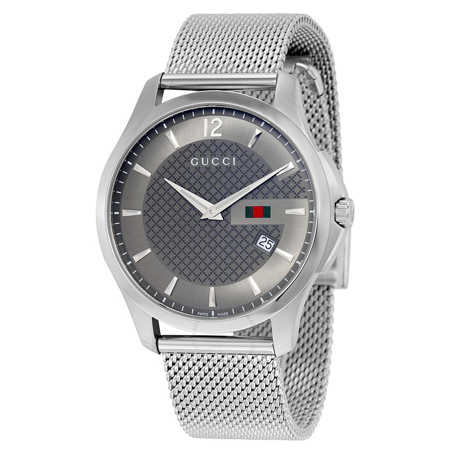 befa9d36b5e Gucci G Timeless Anthracite Dial Stainless Steel Men s Watch YA126315 ...