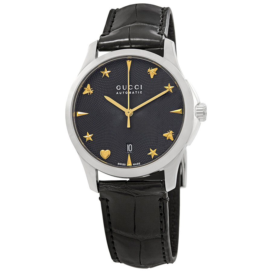 d7f049d500d Gucci G-Timeless Automatic Black Dial Ladies Watch YA126469 - G ...