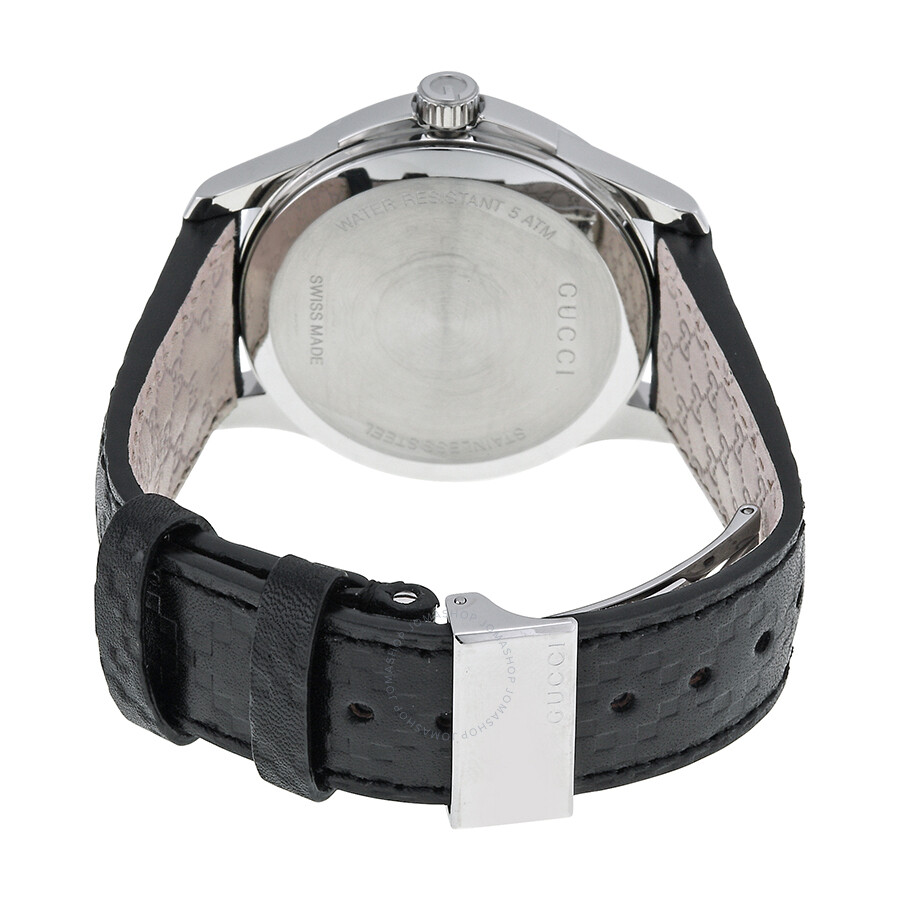 12324d05eb7 ... Gucci G Timeless Automatic Black Dial Leather Strap Men s Watch YA126413  ...