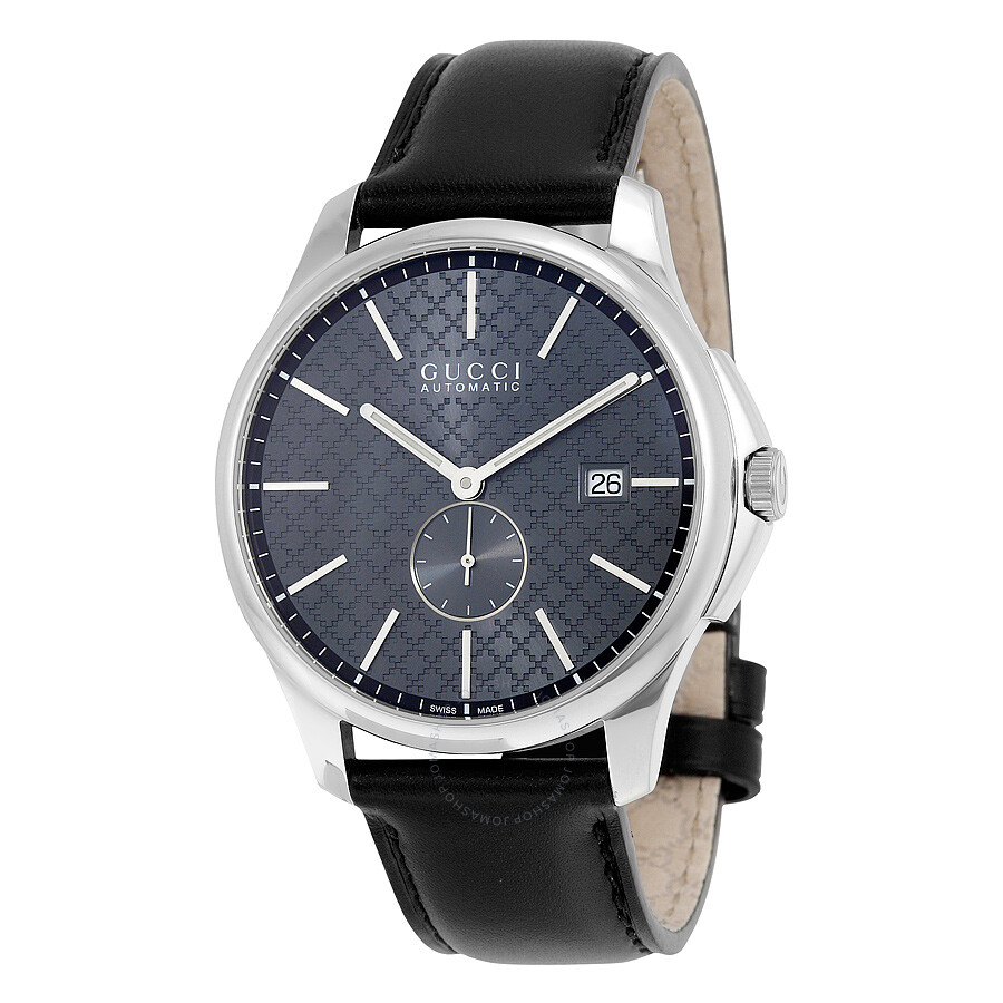 7e0c4284b1d Gucci G-Timeless Automatic Grey Dial Black Leather Men s Watch YA126319 ...