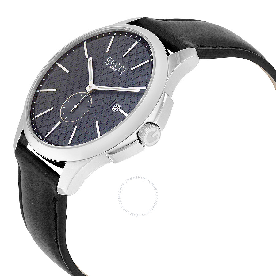 7a2d9dac4cf ... Gucci G-Timeless Automatic Grey Dial Black Leather Men s Watch YA126319  ...