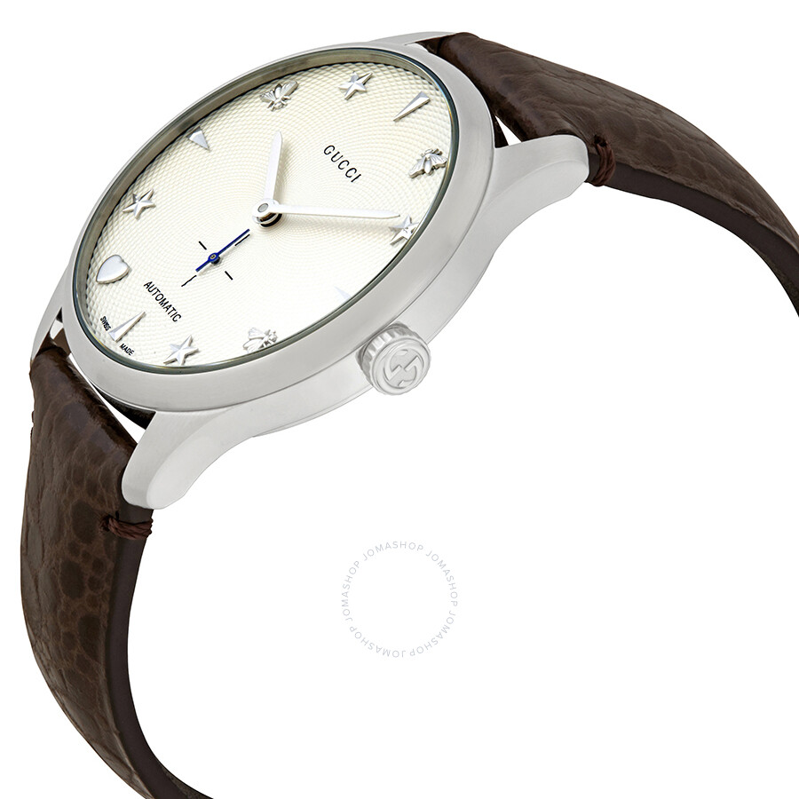 51432c544a7 Gucci G-Timeless Automatic Silver Dial Men s Watch YA126334 - G ...
