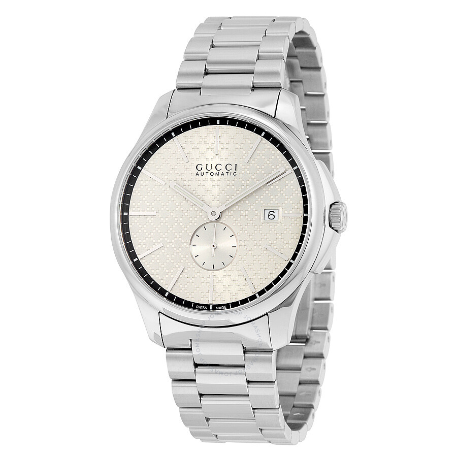 2e7b362e73e Gucci G-Timeless Automatic Silver Dial Stainless Steel Men s Watch YA126320  ...