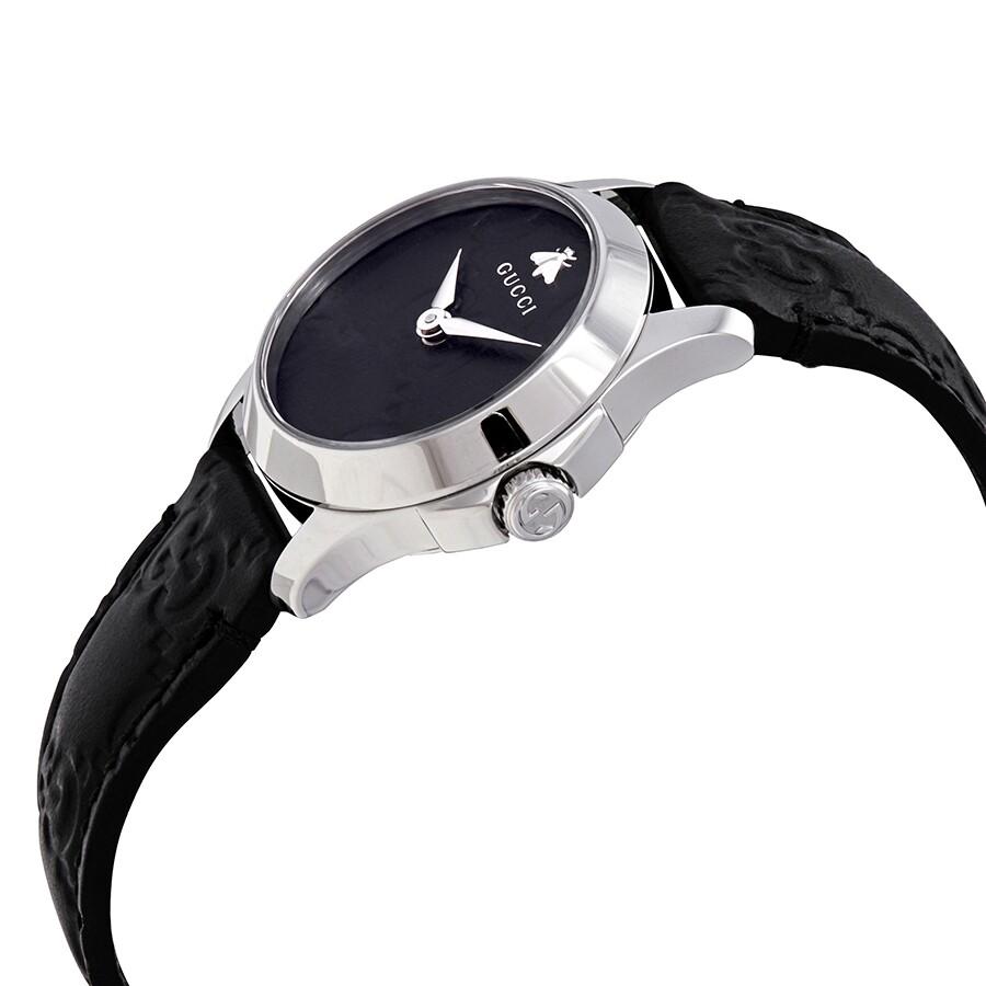 35fd53b3b3d Gucci G-Timeless Black Dial Ladies Leather Watch YA126579 - G ...