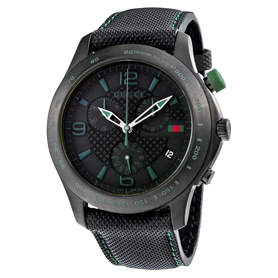 gucci g timeless black chronograph s