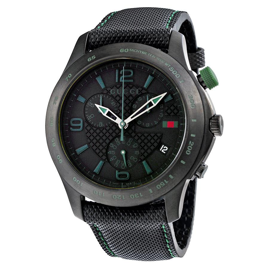 gucci g timeless black chronograph s