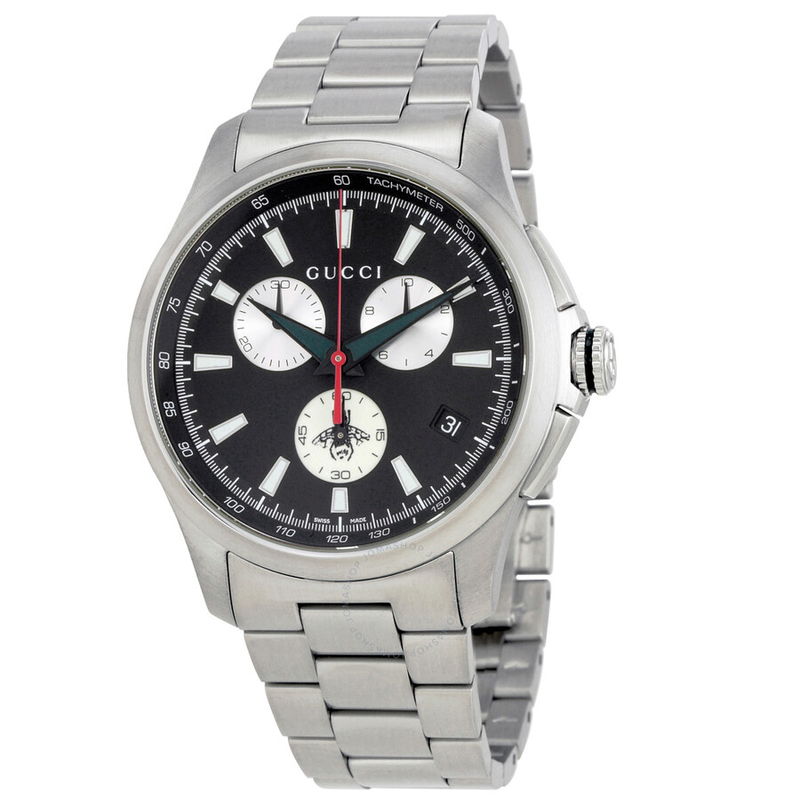 71c27a200b0 Gucci G-timeless Stainless Steel Chrono 44mm Silver Tone Men s Watch ...