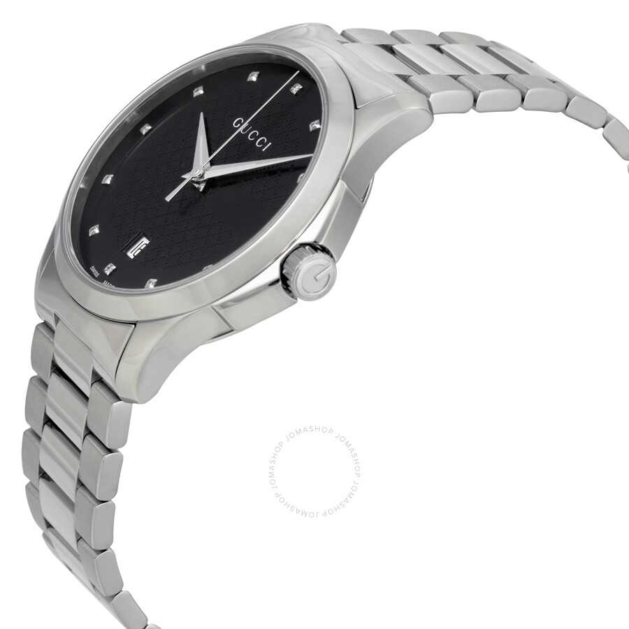 f6cde63d47d Gucci G-Timeless Black Dial Diamond Unisex Watch YA126456 - G ...