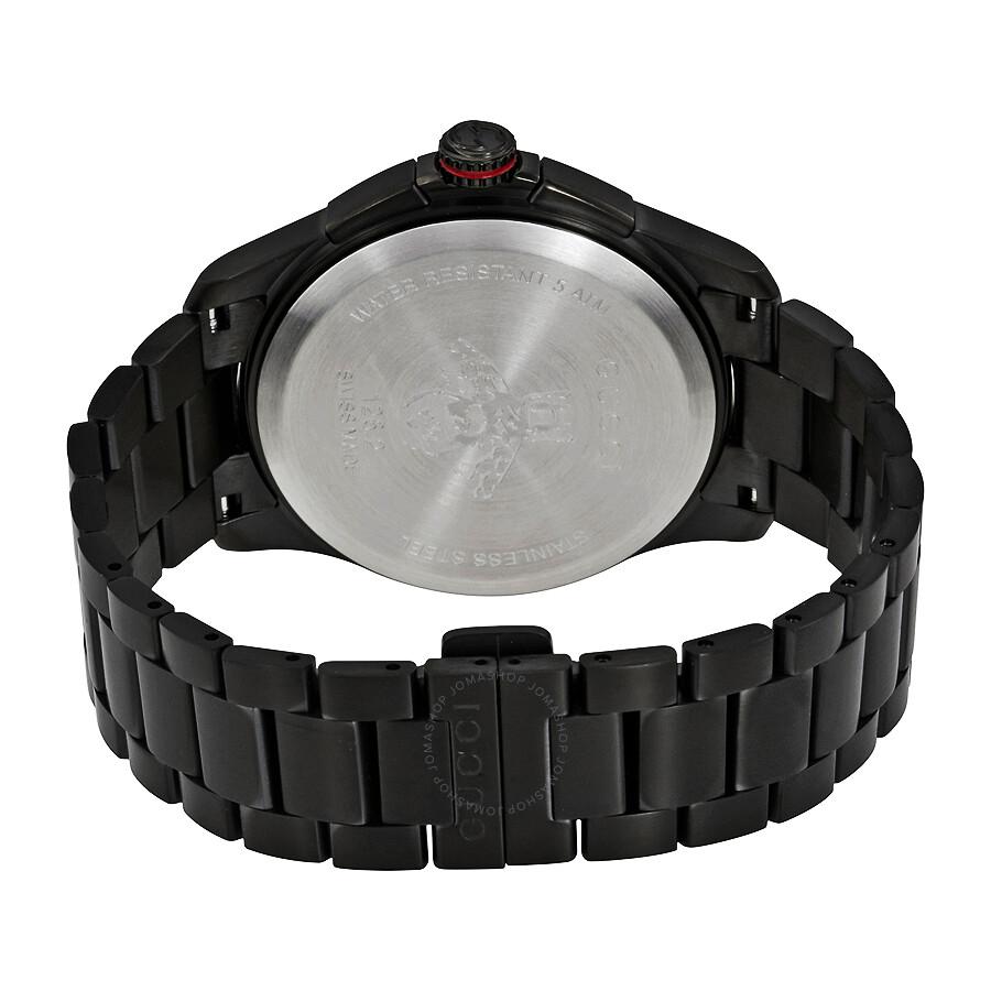 cdbf4e0d042 Gucci G-Timeless Chronograph Black Dial Men s Watch YA126269 - G ...