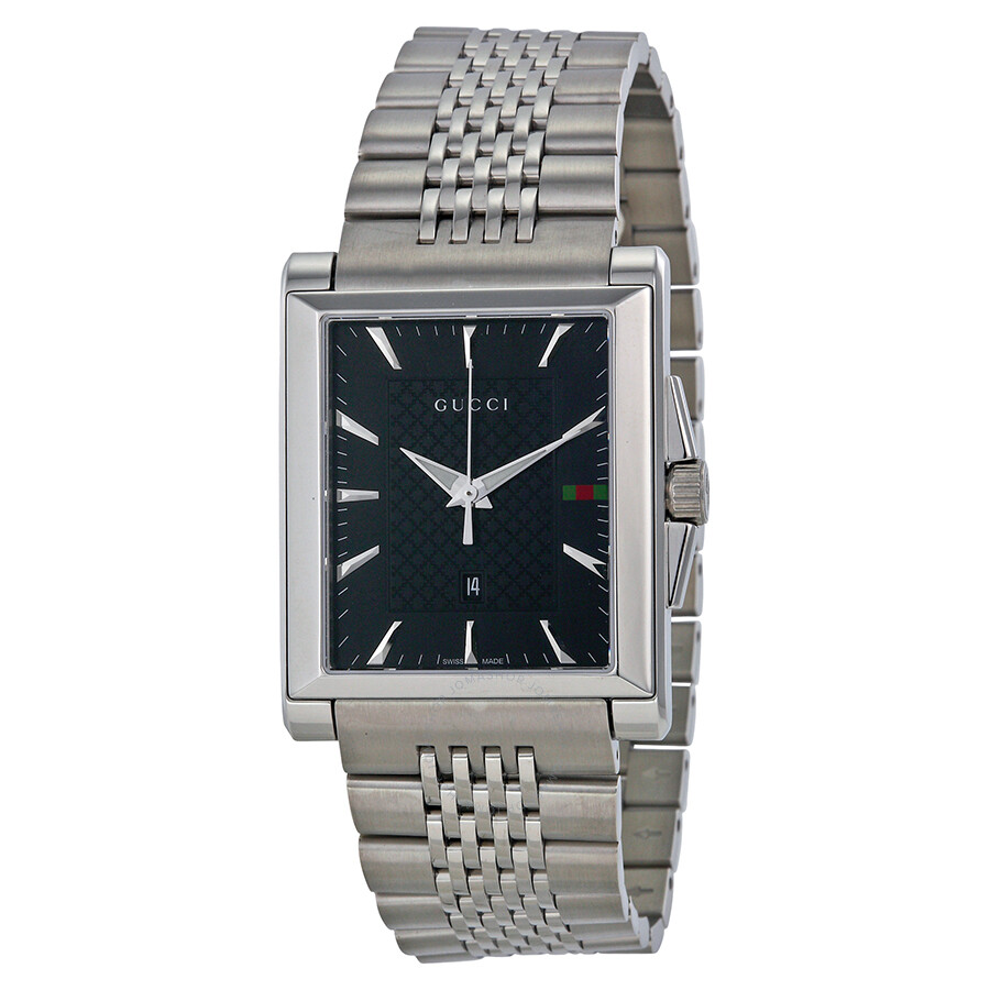6e81bd3470f Gucci G-Timeless Black Dial Stainless Steel Men s Watch YA138401 - G ...