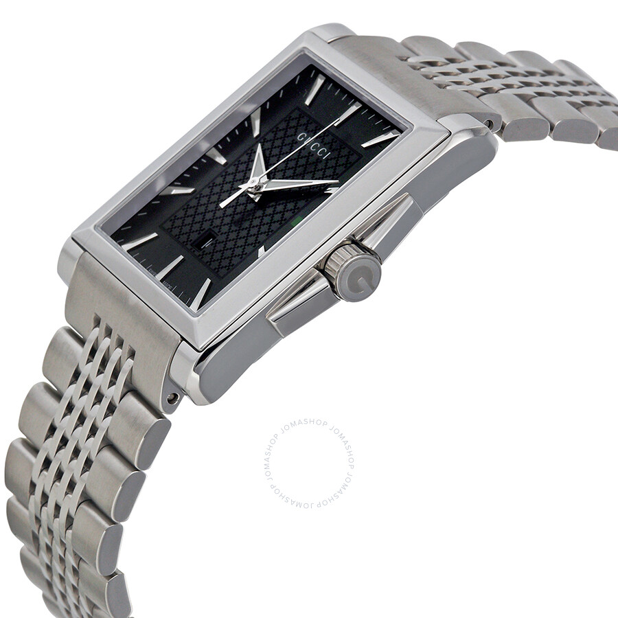 e5a7f44e96c Gucci G-Timeless Black Dial Stainless Steel Men s Watch YA138401 - G ...