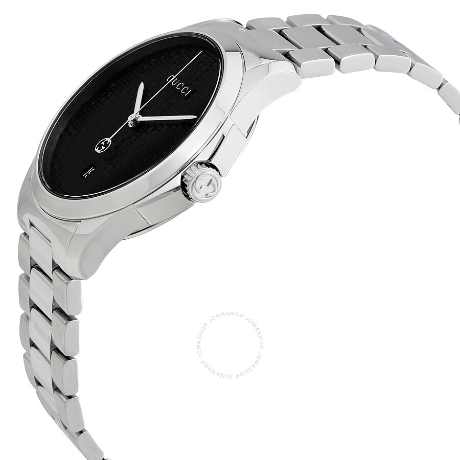be333f7b4fe Gucci G-Timeless Black Dial Stainless Steel Men s Watch YA126460 - G ...