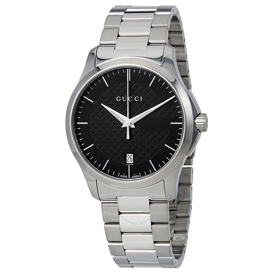 c2687262448 Gucci G-Timeless Black Dial Stainless Steel Unisex Watch YA126457 ...
