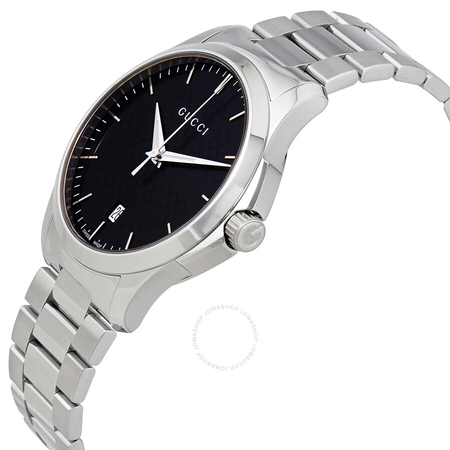 522459c6074 ... Gucci G-Timeless Black Dial Stainless Steel Unisex Watch YA126457 ...