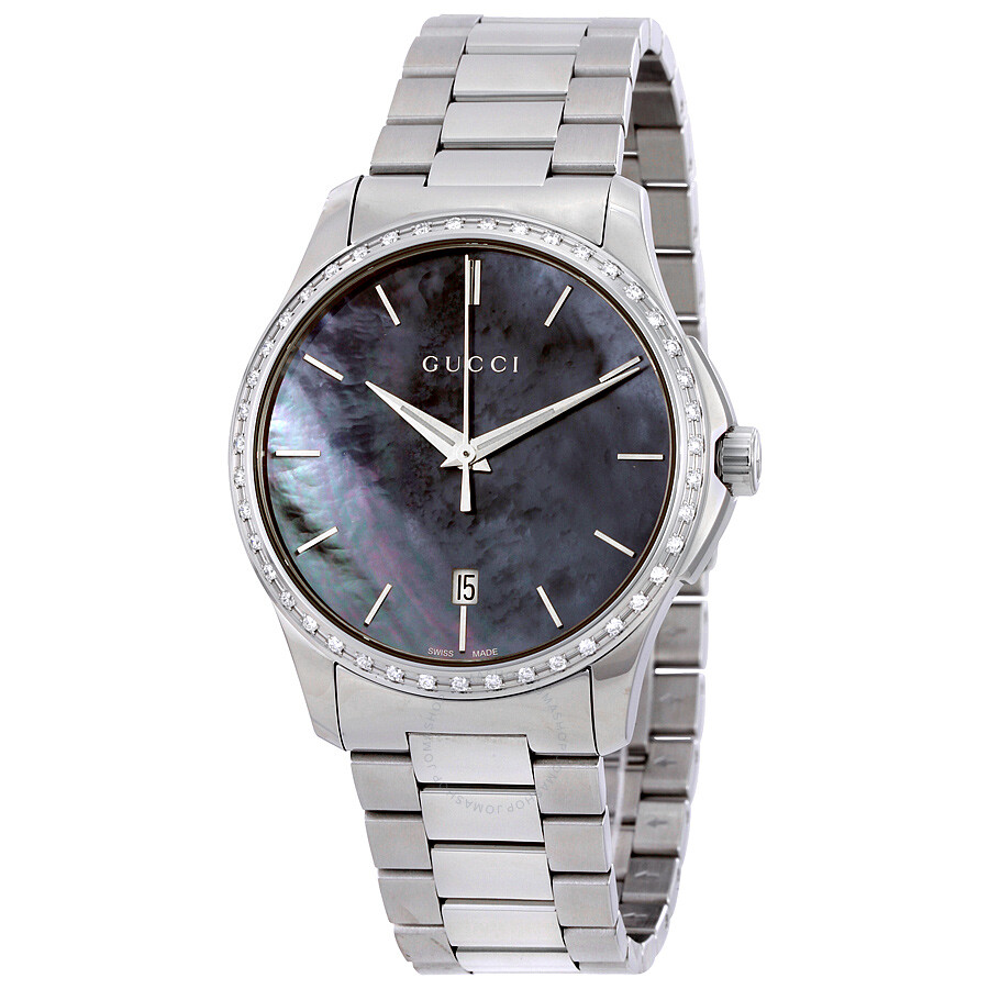 7c4756a822a Gucci G-Timeless Black Mother of Pearl Diamond Unisex Watch YA126458 ...