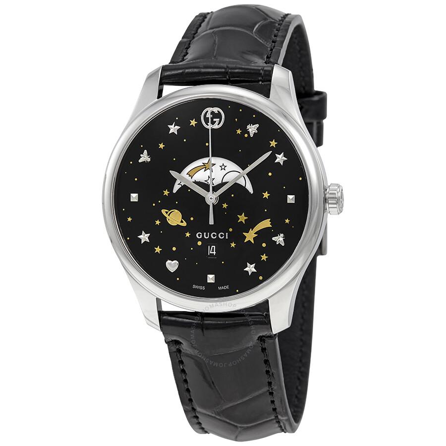 5dfc51a2be6 Gucci G-Timeless Black Motifs Dial Moonphase Watch YA126327 - G ...